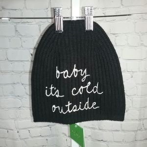 """Kate Spade """"baby its cold outside"""" Winter Hat NWT"""